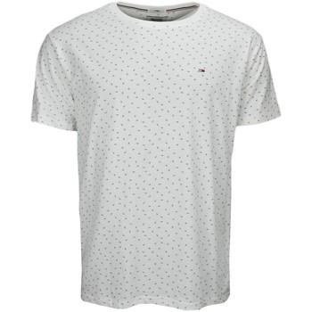 Vêtements Homme T-shirts manches courtes Tommy Hilfiger T-shirt Tommy Hilfiger Dénim Print fleur blanc pour homme Blanc
