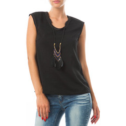T-shirts manches courtes Color Block Top  Noir