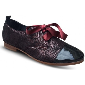 Chaussures Femme Derbies Hirica Derby Plat Bertrand Bordeaux rouge