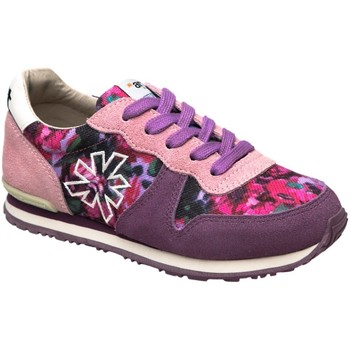 Chaussures Fille Baskets basses The Art Company A454 SUEDE-FANTASY PINK-PURPLE/ RUN-ART Rose