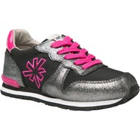 Chaussures Fille Baskets basses The Art Company A456 SUEDE-LONA BLACK-FUCHSIA / RUN-ART Noir