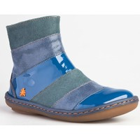 Chaussures Fille Bottines The Art Company A651 MIX LEATHER BLUE/ KIO Bleu