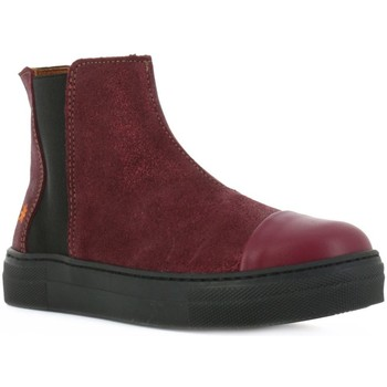 Chaussures Fille Bottines The Art Company A842 SUEDE LAMINADO VINO/ MIAMI Rouge