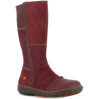 Chaussures Fille Bottes ville The Art Company A763 SUEDE LAMINADO-LUX SUEDE RIOJA / BERLIN Rouge