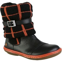 Chaussures Fille Bottines The Art Company A659 GAUCHO-WOOL BLACK-CORAL / KIO Noir
