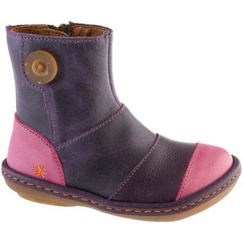 Chaussures Fille Bottines The Art Company A660 WAX-GAUCHO VIOLET-CEREZA / KIO Lilas