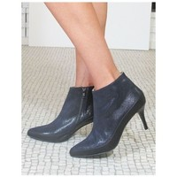 Chaussures Femme Bottines Mon Soulier Bottine pointue marine RICHER bleu