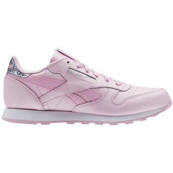 Chaussures Enfant Baskets basses Reebok Sport Classic Leather Pastel Blanc-Rose