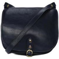 Sacs Femme Sacs porté épaule Oh My Bag Sac à main femme cuir souple - Modèle Verlaine bleu foncé BLEU FONCE