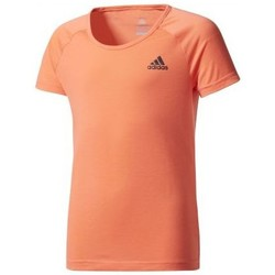 Vêtements Fille T-shirts manches courtes adidas Originals Tee shirt Prime fille orange