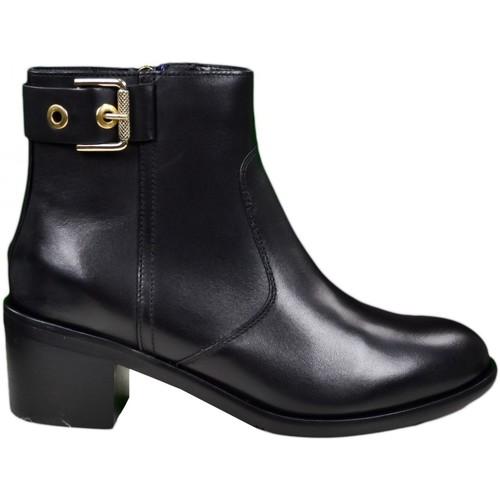 Chaussures Femme Bottines Tommy Hilfiger Bottines  Parson noire pour femme Noir