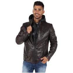 Vêtements Homme Blousons Daytona Blouson  en cuir ref_day41766 Marron Marron