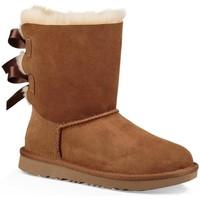 Chaussures Fille Bottes de neige UGG K BAILEY BOW II Marron
