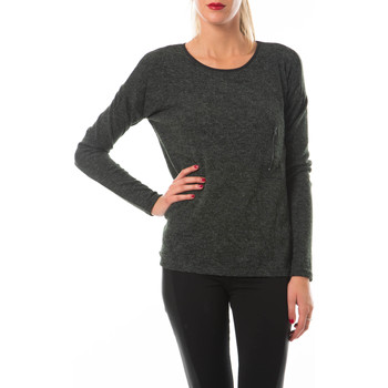 Vêtements Femme T-shirts manches longues Yas Top Easy  Anthracite Anthracite
