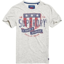Vêtements Homme T-shirts manches courtes Superdry T-shirt  The Craftsman Granit Grey Snowy Gris