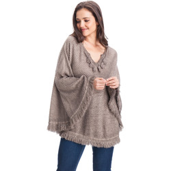 Vêtements Femme Pulls Laura Moretti Poncho ANNETTA gris taupe