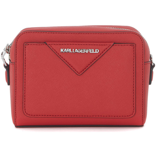 Sacs Femme Sacs Bandoulière Karl Lagerfeld Borsa a tracolla  in pelle saffiano rossa Rouge