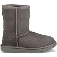 Chaussures Fille Bottes de neige UGG K CLASSIC II GREY Gris