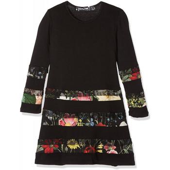 Vêtements Fille Robes courtes Desigual Robe Flare Noir 17WGVK82 Noir