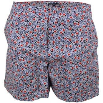 Vêtements Femme Shorts / Bermudas Tommy Hilfiger Short  Taylor fleuri bleu et rouge pour femme Bleu