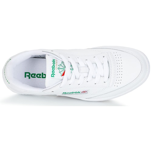 BlancVert Reebok Basses Club C 85 Classic Baskets BordeWxC