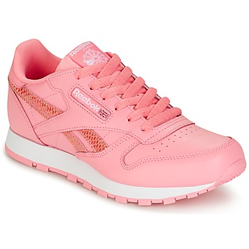 Chaussures Fille Baskets basses Reebok Classic CLASSIC LEATHER SPRING Rose