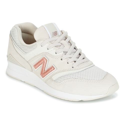 New Balance WL697 Rose - Chaussures Baskets basses Femme