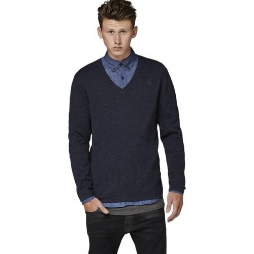 Vêtements Homme Pulls G-Star Raw Pull  Col V Lockstart Mazarine Blue