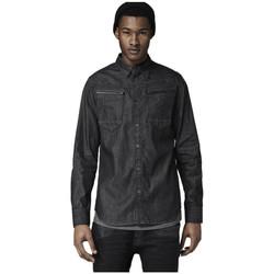 Chemises manches longues G-Star Raw Chemise  Arc Zip Black Shatter Denim