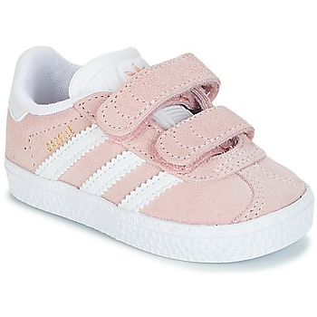f088b15f5b593 Chaussures Fille Baskets basses adidas Originals GAZELLE CF I Rose