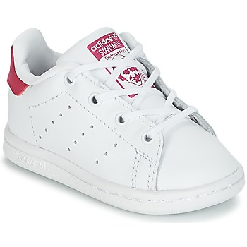 Chaussures Fille Baskets basses adidas Originals STAN SMITH I Blanc / rose