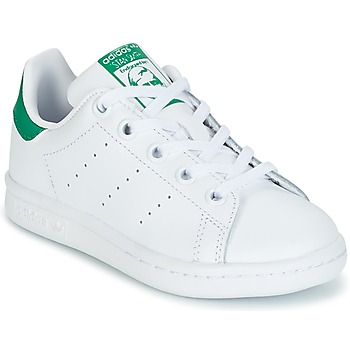 1a1f2e485c980 Chaussures Enfant Baskets basses adidas Originals STAN SMITH C Blanc   vert