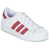 Chaussures Fille Baskets basses adidas Originals SUPERSTAR C Blanc
