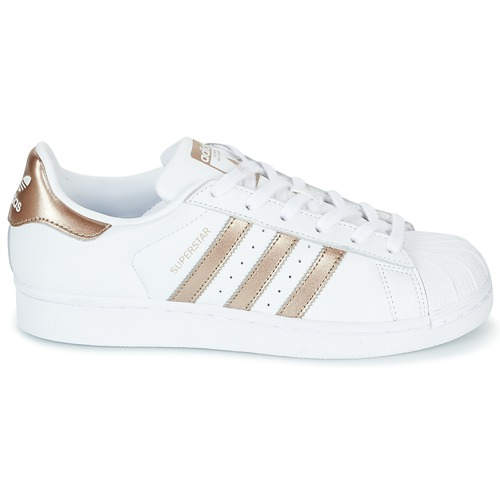 Superstar Adidas Femme Originals Basses BlancDore W Baskets Y7yvbf6g
