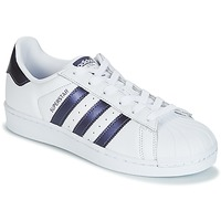 Chaussures Femme Baskets basses adidas Originals SUPERSTAR W Blanc / Bleu