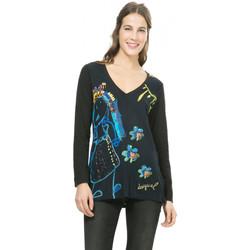 Vêtements Femme T-shirts manches longues Desigual T Shirt  Alba Noir 67T24T4 (sp) Noir