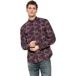 Vêtements Homme Chemises manches longues Desigual Chemise Alex Peacoat Bleu 17WMCW81 19