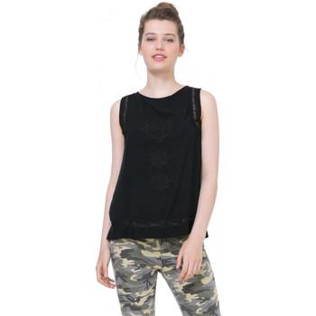 Vêtements Femme Tops / Blouses Desigual T Shirt Blouse Learn Noir 71B2YK1 (sp)