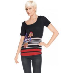 Vêtements Femme T-shirts manches courtes Desigual T Shirt Enero Noir 61T25Q2 38