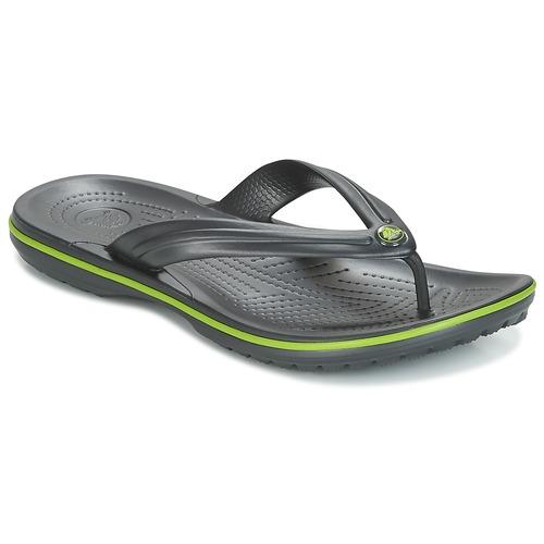 Chaussures Tongs Crocs CROCBAND FLIP Noir / Vert