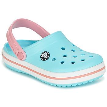 Chaussures Fille Sabots Crocs CROCBAND CLOG KIDS Bleu / Rose