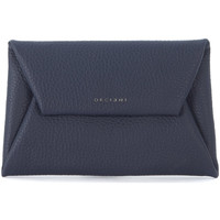 Sacs Femme Pochettes / Sacoches Orciani Busta a mano  in pelle martellata blu Bleu