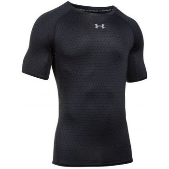 Vêtements Homme T-shirts manches courtes Under Armour - T-shirt Compression UA HeatGear® Armour imprimé à manches cou noir
