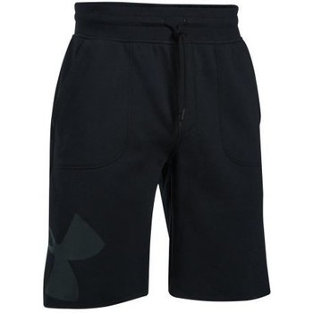 Vêtements Homme Shorts / Bermudas Under Armour - Short UA Rival Fleece Exploded Logo pour homme noir