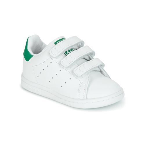 Chaussures Enfant Baskets basses adidas Originals STAN SMITH CF I Blanc / vert