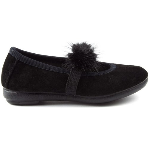 Chaussures Enfant Ballerines / babies Vulladi PEUT SERRAJE POMPONES noir