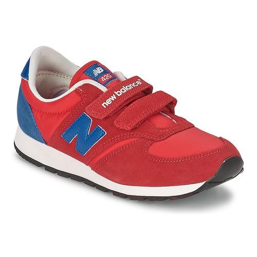 Chaussures Enfant Baskets basses New Balance KE420 Rouge / Bleu