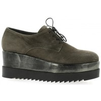 Chaussures Femme Derbies Pao Derby cuir velours Anthracite