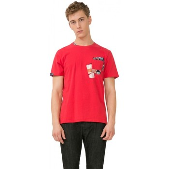 Vêtements Homme T-shirts manches courtes Desigual Tee-Shirt Delfines Rouge 72T14H7 (sp) 8