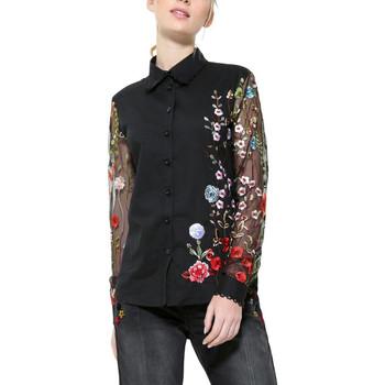 Vêtements Femme Tops / Blouses Desigual Chemise Femme Florinda Noir 17wwcw52 Noir